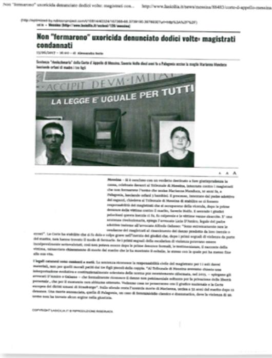 Articolo di La Sicilia del 13/06/2017