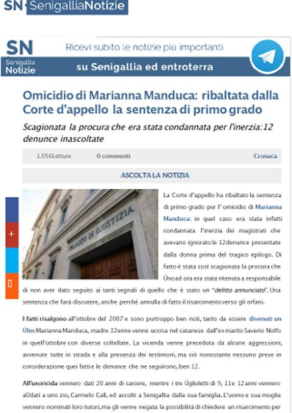 Articolo di Senigallia Notizie