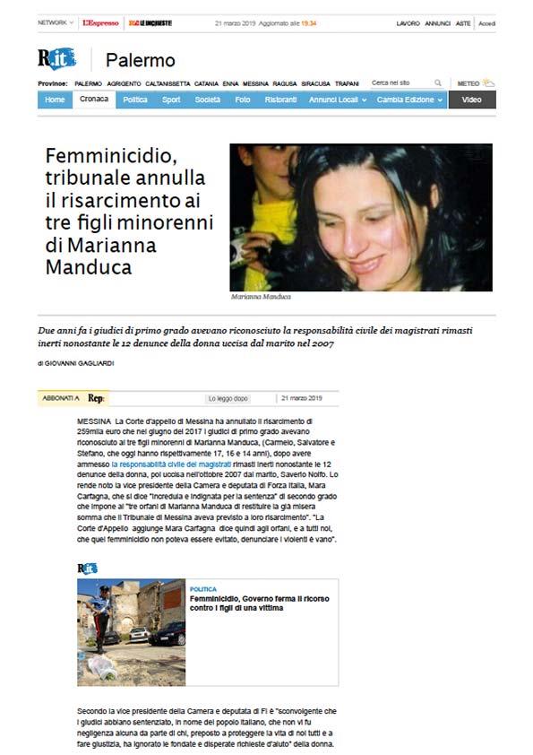 Articolo di Rep. Palermo