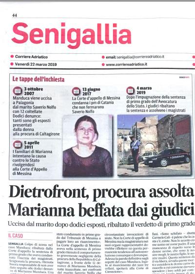Dietrofront procura assolta Marianna beffata dai giudici
