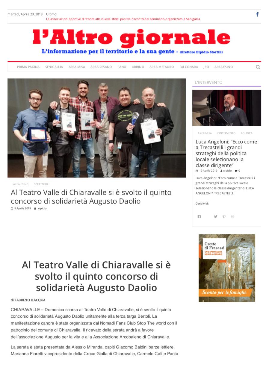 Paola e Carmelo Calì al teatro Valle di Chiaravalle hanno parlato di Insieme a Marianna