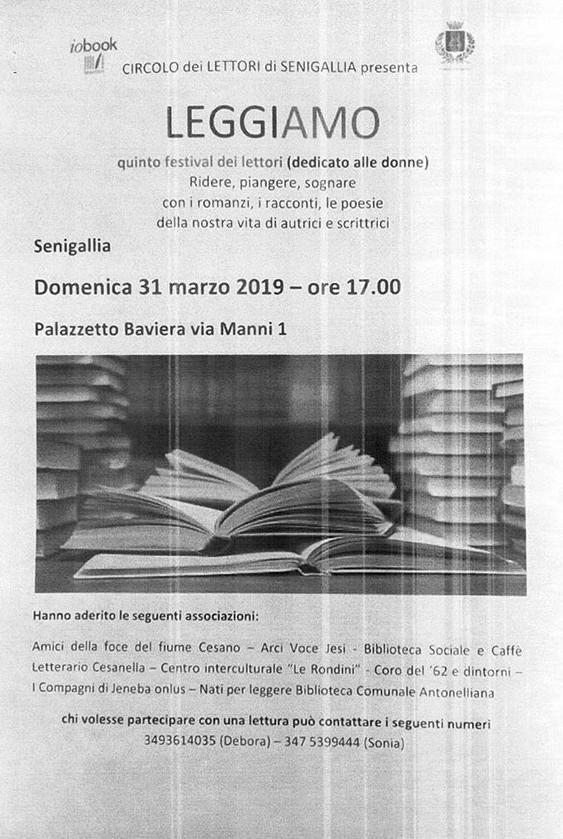 festival dei lettori di Senigallia dedicato alle donne