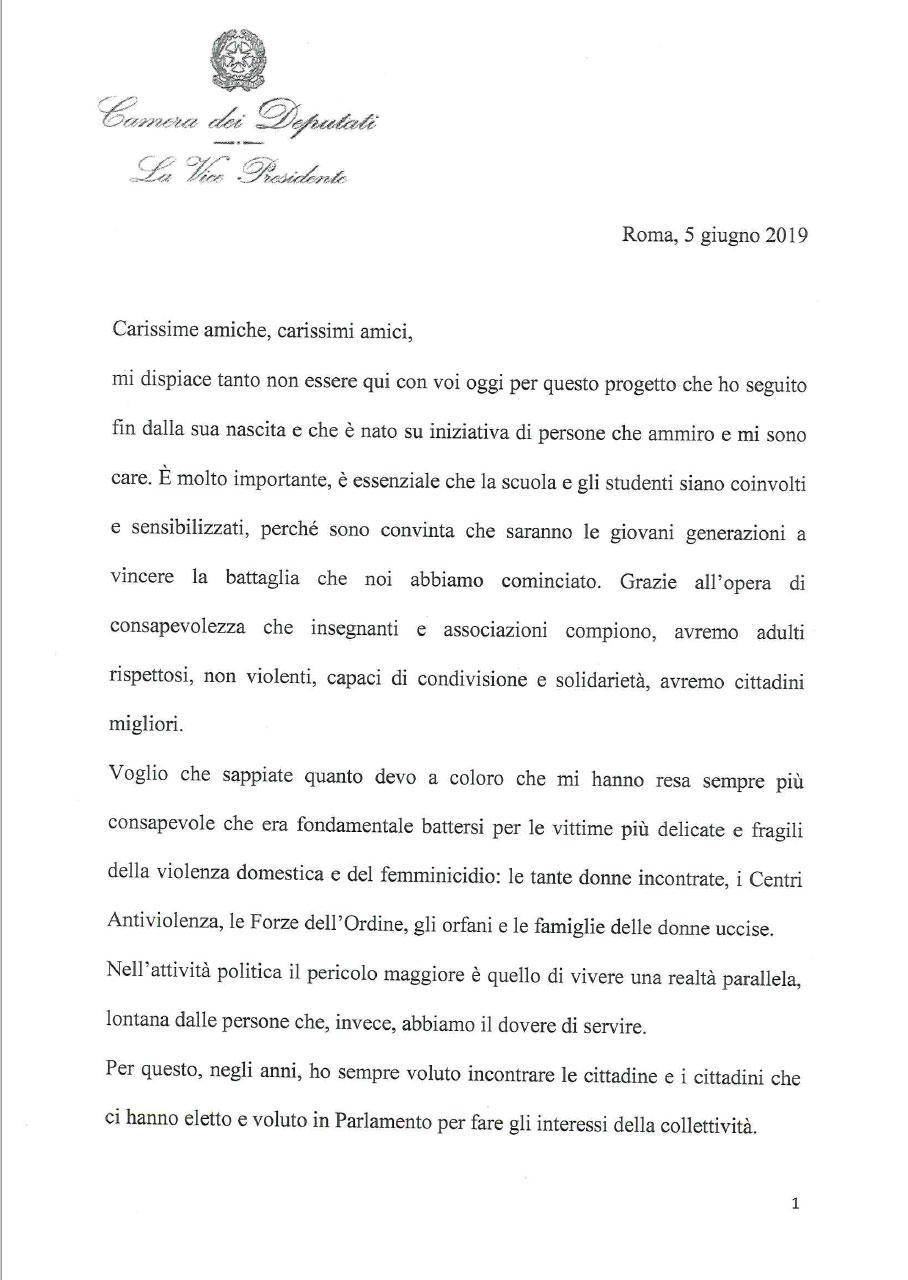 Messaggio-Vice-presidente-camera-deputati-Mara-Carfagna