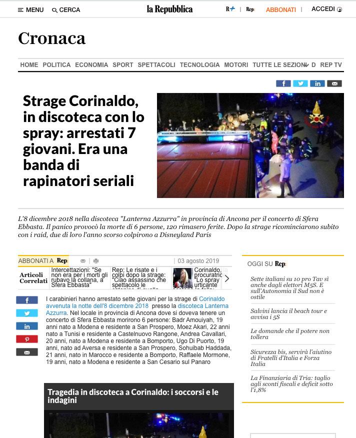 Strage-Discoteca-Corinaldo---Repubblica