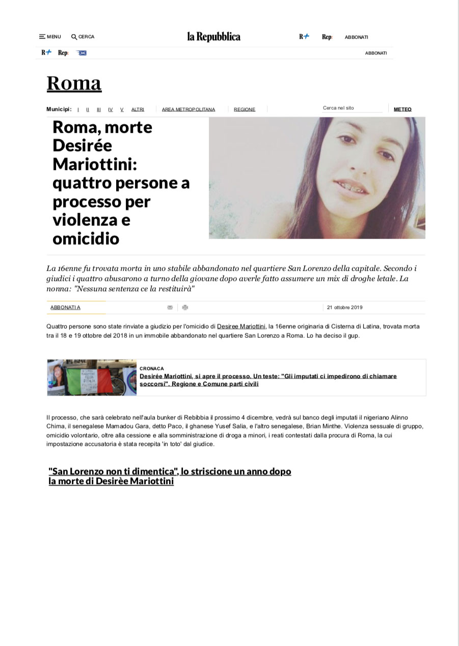 Articolo Repubblica