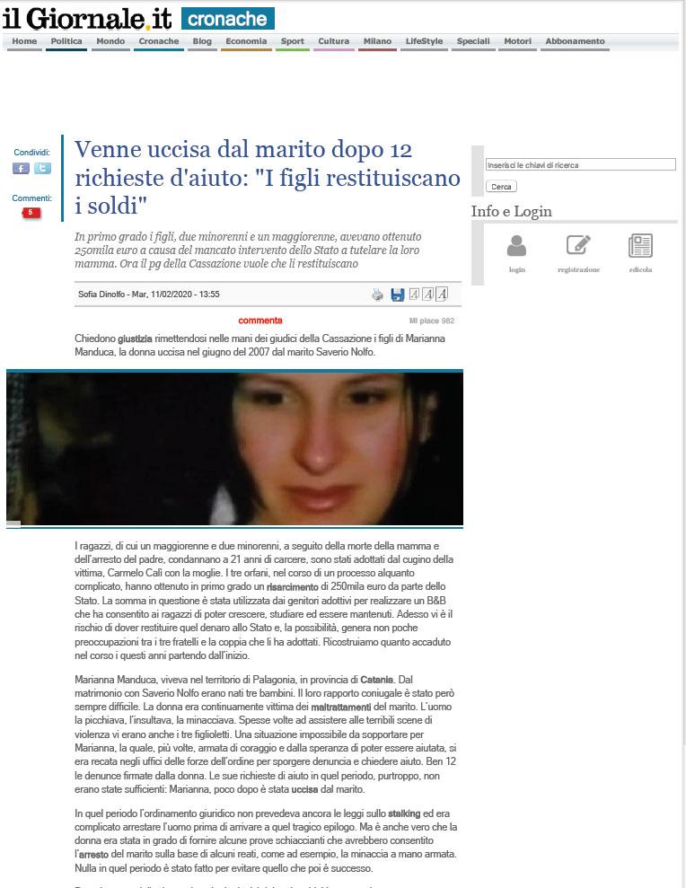 Marianna-Manduca---articolo-il-giornale