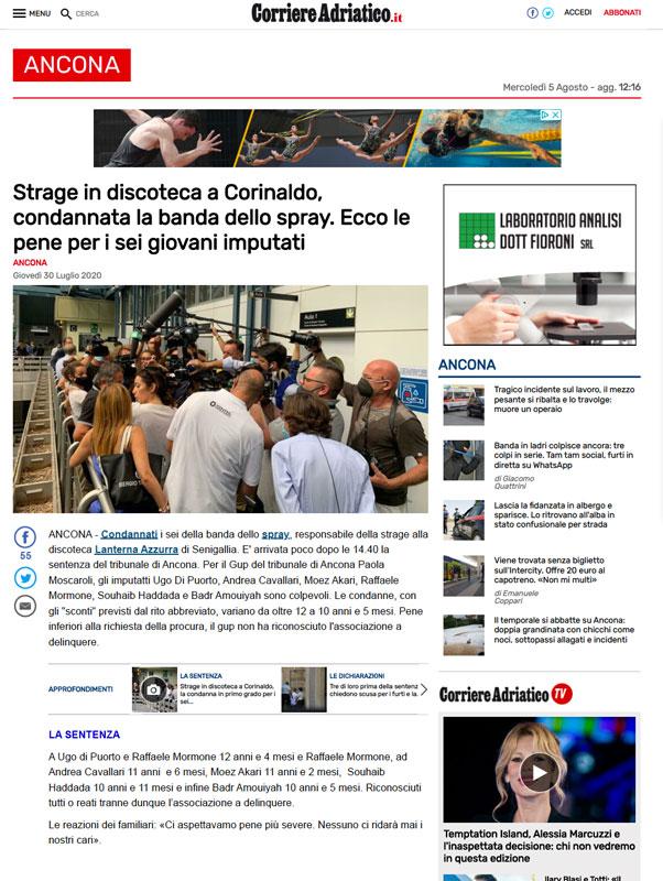 Strage-di-Corinaldo---Articolo-del-Corriere-Adriatico